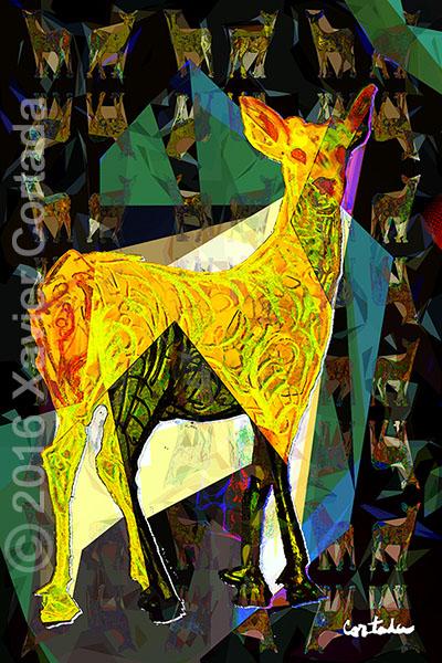 "Xavier Cortada, \""(Florida is…) Key Deer,\"" archival ink on aluminum, 60\″ x 40\″, 2016."