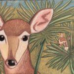 nina_key deer_18x24_chalk pastel